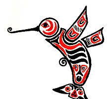 Tribal Hummingbird by Roberta  Murray