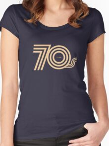 Born in the 70's Women's Fitted Scoop T-Shirt