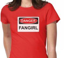 Danger Fangirl - Warning Sign Womens Fitted T-Shirt