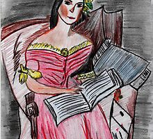 Reading Lady ♦ Giuseppina Strepponi  by Kittycat10