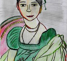 Lady In Green  by Kittycat10