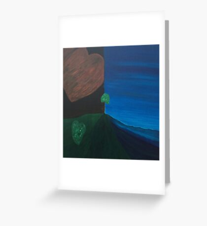 Love Earth Water Sky by LindaGLarsen Greeting Card