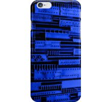 Metal and blue light iPhone Case/Skin