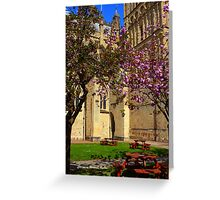 Exeter Cathedral Cafe Greeting Card