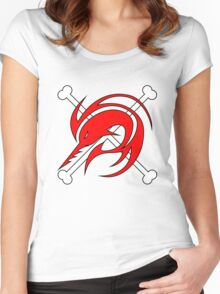 flag red Women's Fitted Scoop T-Shirt