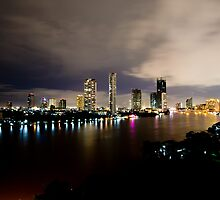 Chao Phraya River at Night by Asif Patel