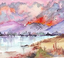 Veldfire over the mountains by Maree Clarkson