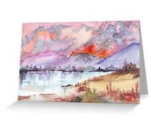 Veldfire over the mountains Greeting Card