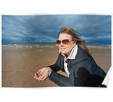 Adult woman at the sea Poster