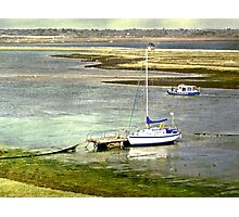 Mooring at Hurst Spit Photographic Print