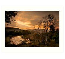 Sunset over the Umkomaas River, Kwazulu Natal, South Africa Art Print