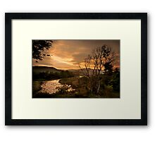 Sunset over the Umkomaas River, Kwazulu Natal, South Africa Framed Print