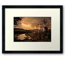 Sunset over the Umkomaas River, Kwazulu Natal, South Africa Framed Print