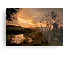 Sunset over the Umkomaas River, Kwazulu Natal, South Africa Metal Print
