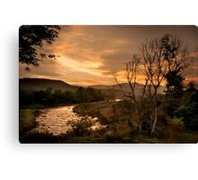 Sunset over the Umkomaas River, Kwazulu Natal, South Africa Canvas Print