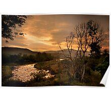 Sunset over the Umkomaas River, Kwazulu Natal, South Africa Poster