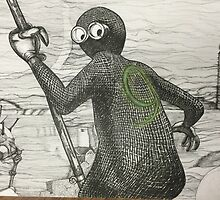 Pen and Ink based off of character 9 by JacobCarder