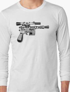 Gun Typography Long Sleeve T-Shirt