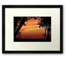 Tree Framed Sunset Framed Print