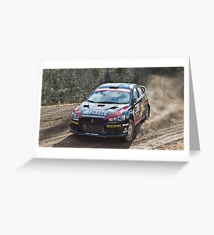Rally Lancer Evo Drift Greeting Card