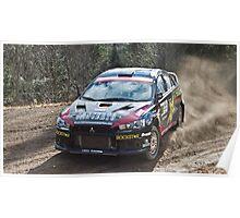 Rally Lancer Evo Drift Poster