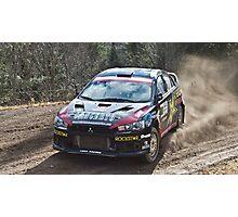 Rally Lancer Evo Drift Photographic Print