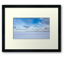 Winter, Northern Ontario Framed Print