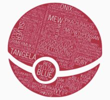 Typography Pokeball Kids Clothes