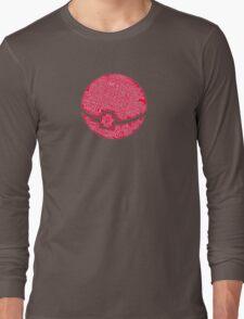 Typography Pokeball Long Sleeve T-Shirt