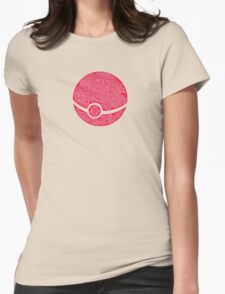 Typography Pokeball Womens Fitted T-Shirt