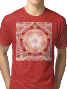 Smoky Pink Mandala Tri-blend T-Shirt