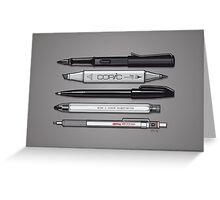 Pro Graphic Design Pens (Grey) Greeting Card