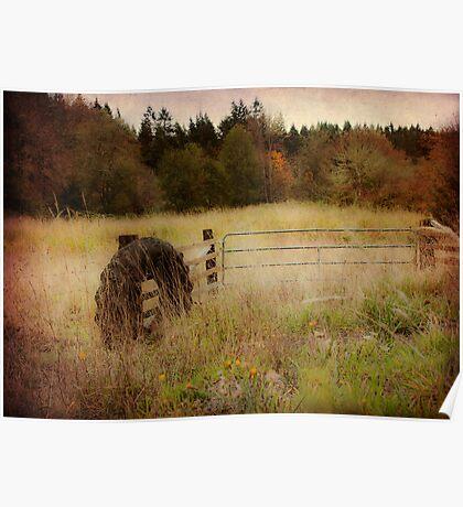 Rural Fence Poster