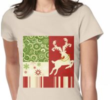 Modern Christmas II, modern Holiday Art Womens Fitted T-Shirt