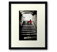 Up the stairs Framed Print