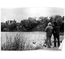 Companions by the Pond Poster