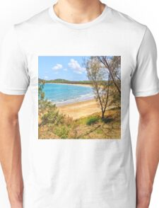 Peaceful Bay through the trees Unisex T-Shirt