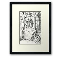 holding steady Framed Print
