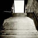 Black and White Stairs to the light by marting04