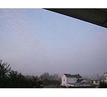 10/31/11- Strange Halloween Morning Mist 3 Photographic Print