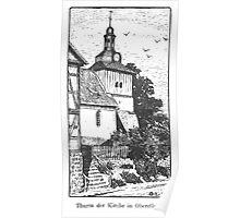 Georg Lilie Oberellen Kirche Poster