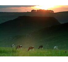 Thorpe Cloud  Sunset Photographic Print