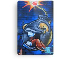 Graffiti Crazy Bomb Metal Print