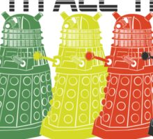 Daleks use all the colors Sticker