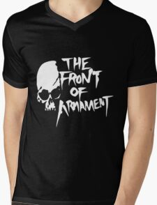 The Front of Armament Mens V-Neck T-Shirt