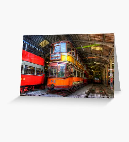 Tram 812 Glasgow Corporation Greeting Card