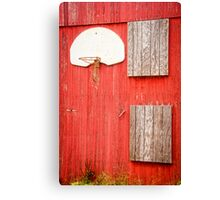 """Farm League"" - basketball hoop on farm Canvas Print"