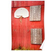 """Farm League"" - basketball hoop on farm Poster"