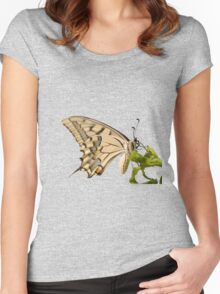 Swallowtail Butterfly Vector Isolated Women's Fitted Scoop T-Shirt