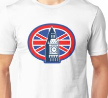 London Big Ben Clock Tower British Flag  Unisex T-Shirt